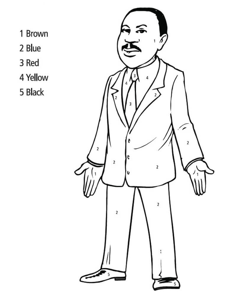 Martin Luther King Jr Coloring Page Free Printable – Dialogueeurope | 1024x768