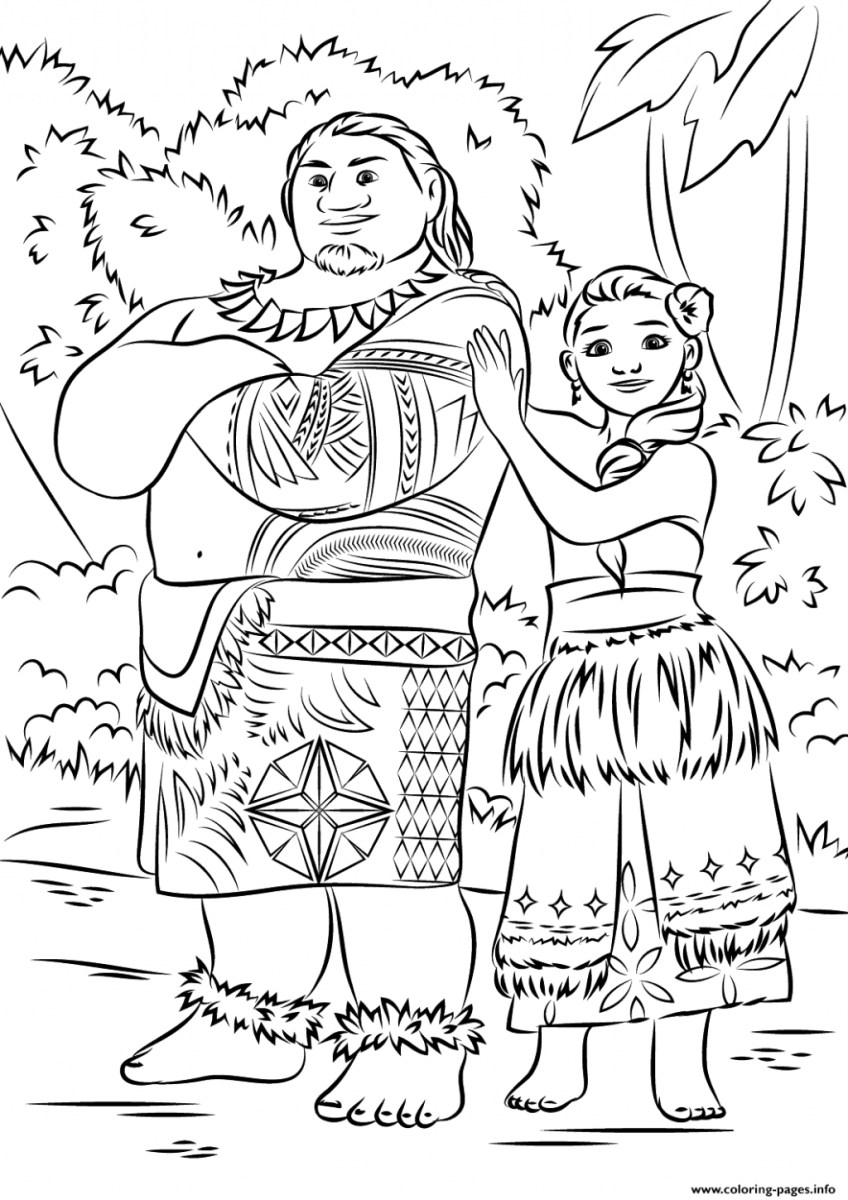 Moana Printable Coloring Pages Coloring Pages Disney Printable Coloring Pages Moana Download Them