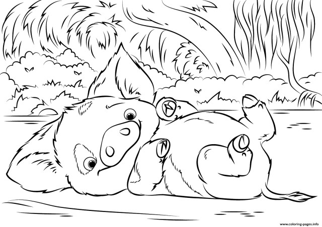 Moana Printable Coloring Pages Disney Coloring Pages To Print Pua Pet Pig From Moana Disney