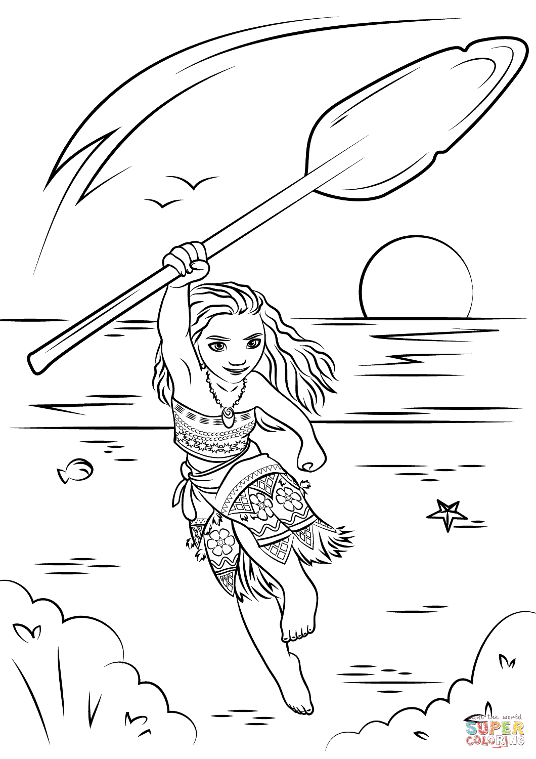 Pretty Picture Of Moana Printable Coloring Pages Birijus Com