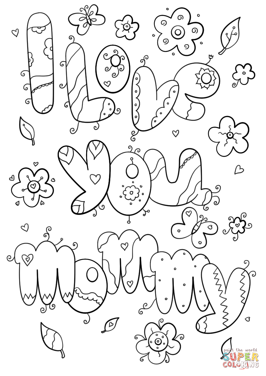 Mom coloring pages i love you mommy coloring page free printable