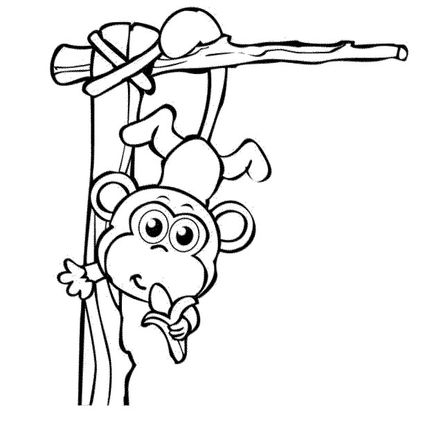 Monkey Coloring Pages Free Printable Cartoon Monkey Coloring Page Lef Clan