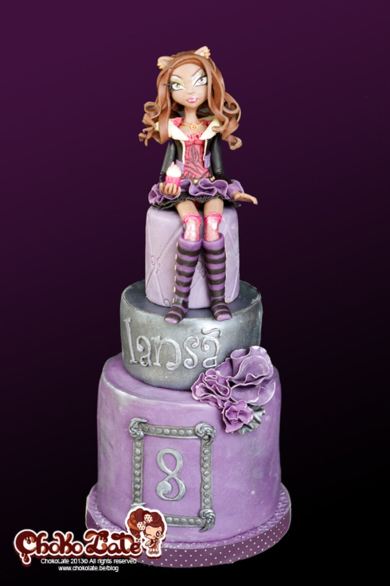 Magnificent Monster High Birthday Cakes Monster High Birthday Cake Clawdeen Funny Birthday Cards Online Alyptdamsfinfo
