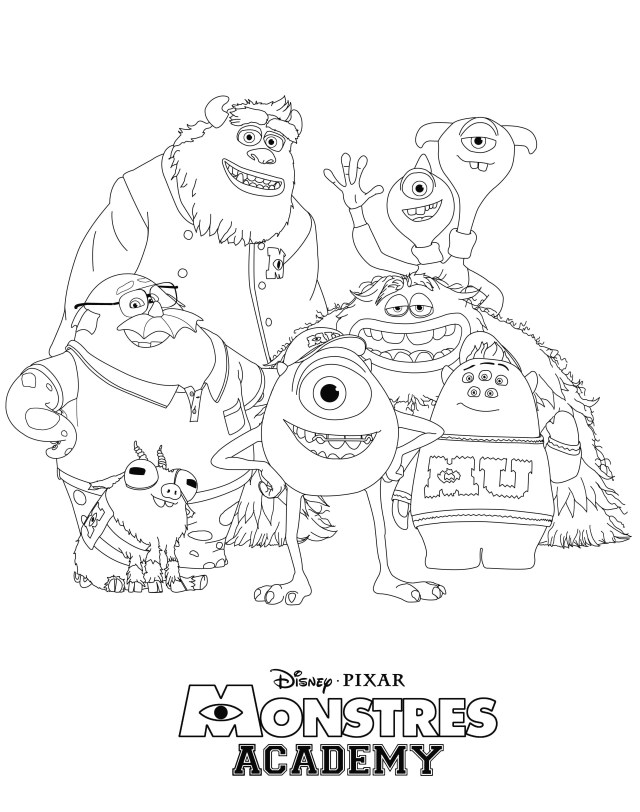 Monster Inc Coloring Pages Free Monsters University Coloring Pages Stylish Growth Monster 13008