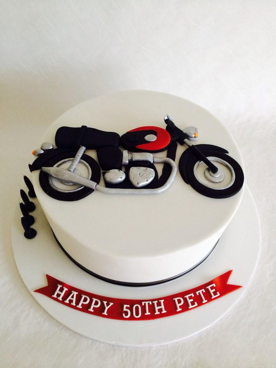 Tremendous Motorcycle Birthday Cake Triumph Motorbike Cake Birthday Themes Funny Birthday Cards Online Alyptdamsfinfo