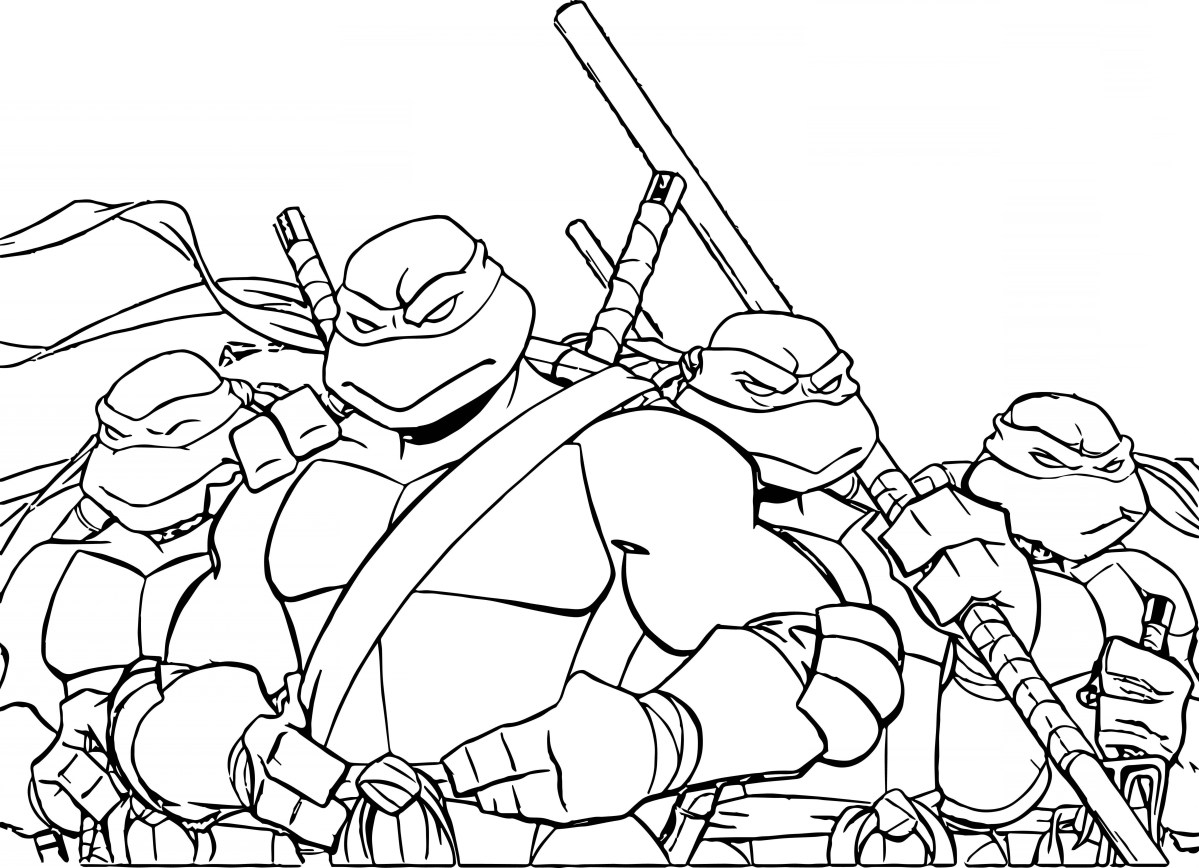 Ninja Turtles Coloring Pages Ninja Turtle Coloring Pages Neuhne Birijus Com