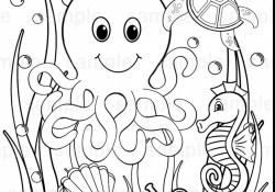 Ocean Animals Coloring Pages Ba Sea Animals Coloring Pages With Ba Sea Animals Coloring Pages