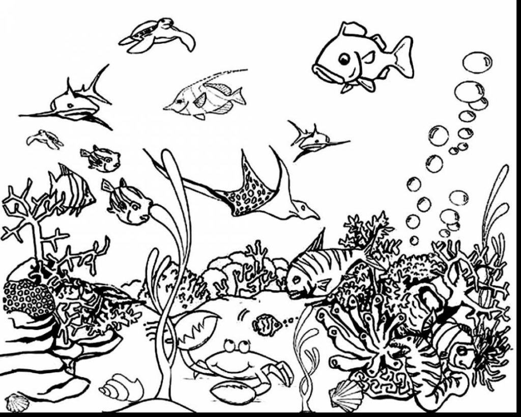 Coloring Pages Underwater Animals Coloring Pages For Kids