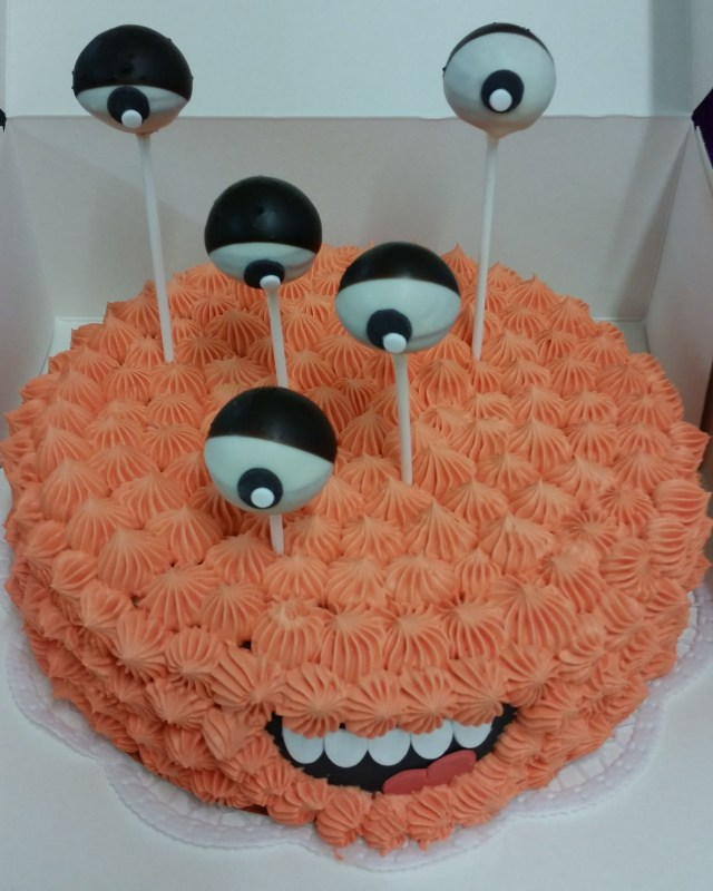 Orange Birthday Cake Kindergeburtstag Geburtstagstorte Ohne Fondant Monstertorte