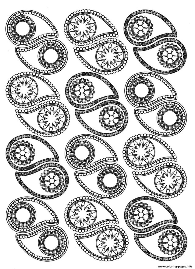 Paisley Coloring Pages Adult Paisley Coloring Pages Printable