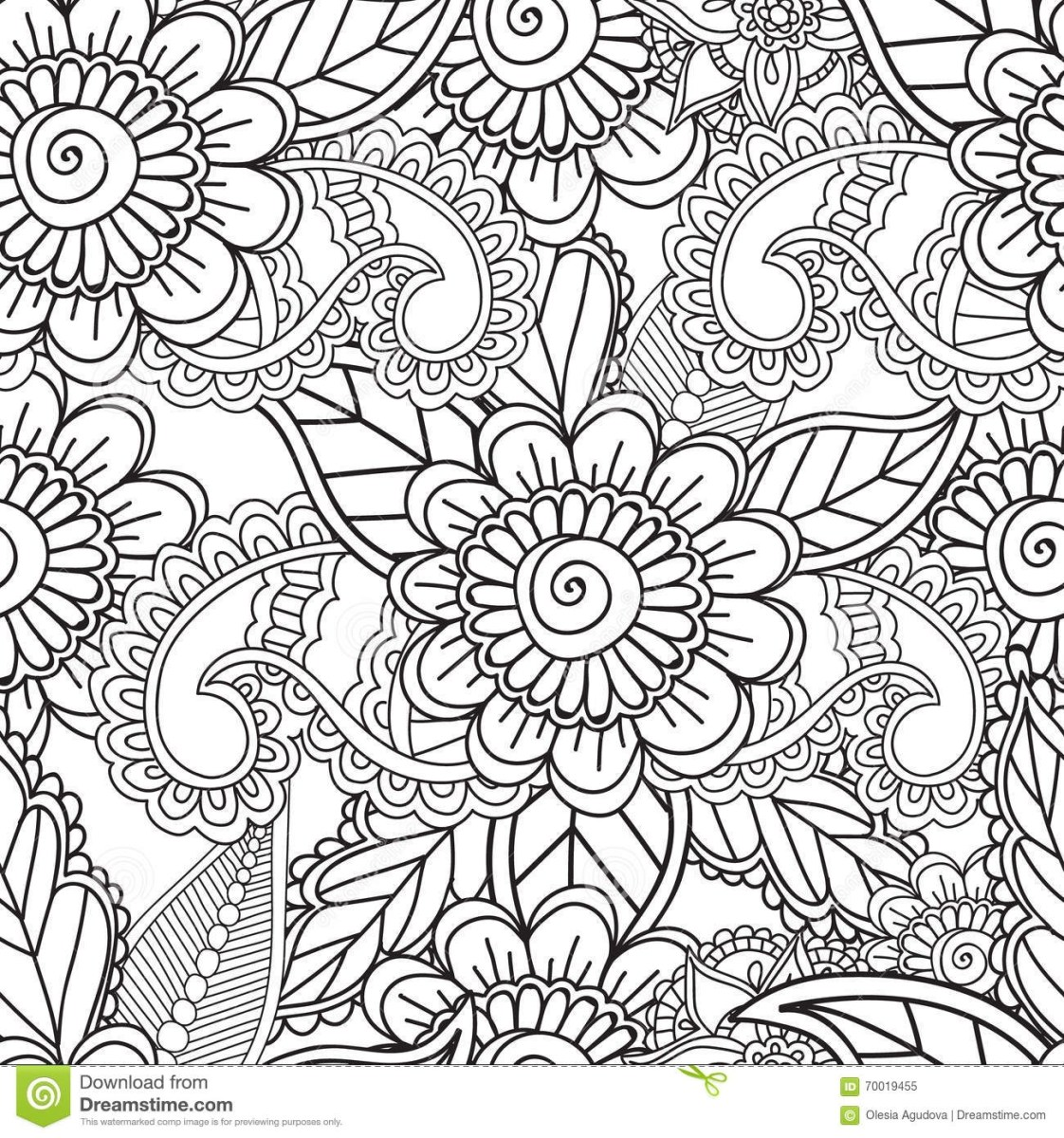 Paisley Coloring Pages Free Printable Paisley Coloring Pages At Getdrawings Free For Birijus Com