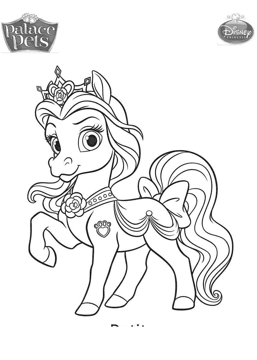 Palace Pets Coloring Pages Disney Princess Palace Pets ...