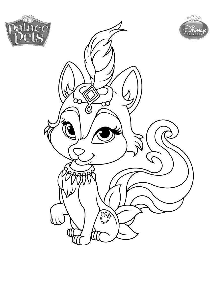 Palace Pets Coloring Pages Princess Palace Pets Coloring Pages