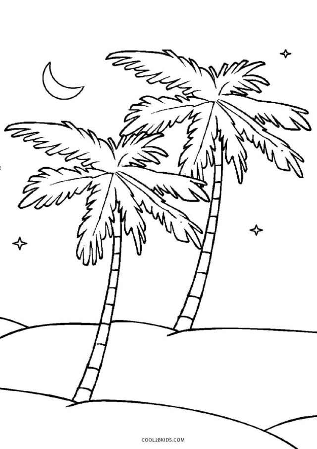 Palm Tree Coloring Pages Free Printable Tree Coloring Pages For Kids Cool2bkids