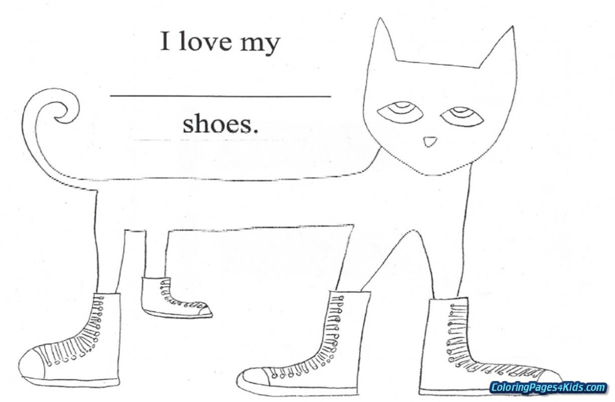 Pete The Cat Coloring Page Pete The Cat Rocking In My School Shoes Coloring Page Free Birijus Com