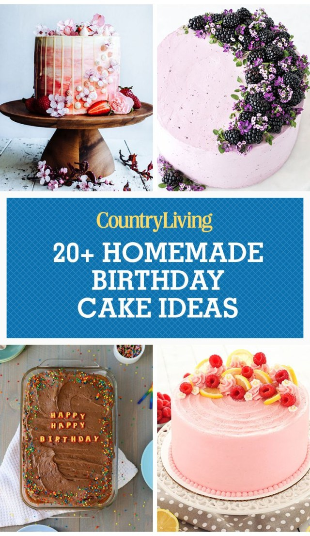 Pictures Of Birthday Cakes For Adults 24 Homemade Birthday Cake Ideas Easy Recipes For Birthday Cakes