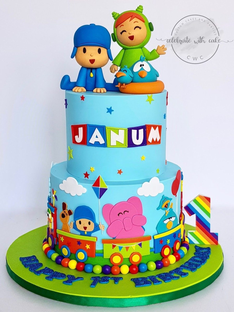 Prime Pocoyo Birthday Cake A Blog About Customized Cakes In Singapore My Funny Birthday Cards Online Inifodamsfinfo