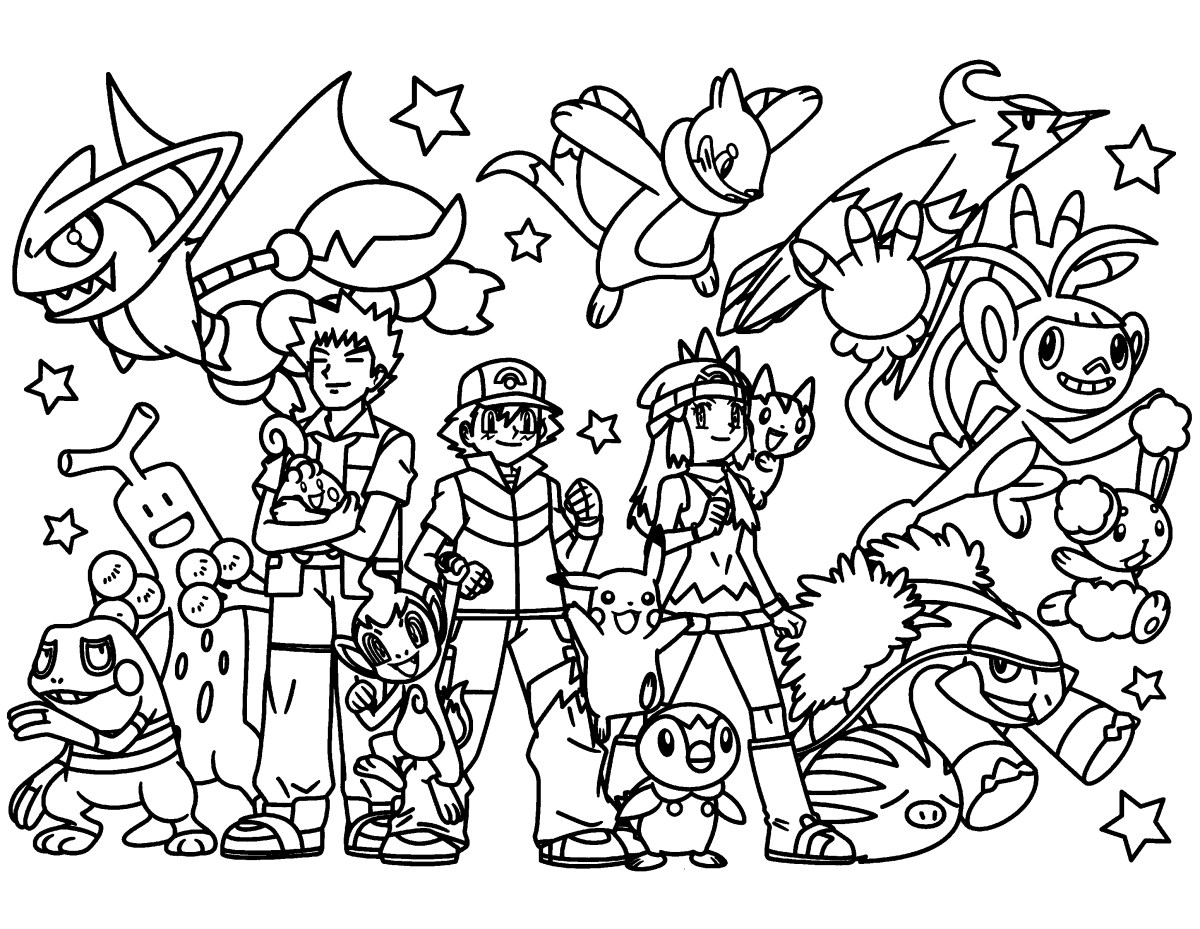 Pokemon Color Pages Pokemon Coloring Pages Join Your Favorite Pokemon On An Adventure