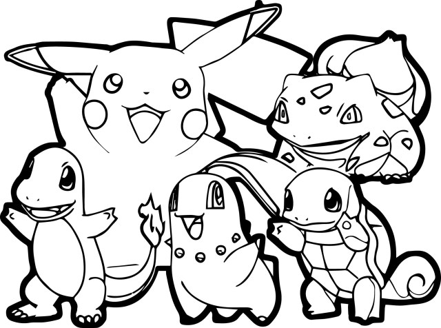 Pokemon Color Pages Pokemon For Children All Pokemon Coloring Pages Kids Coloring Pages