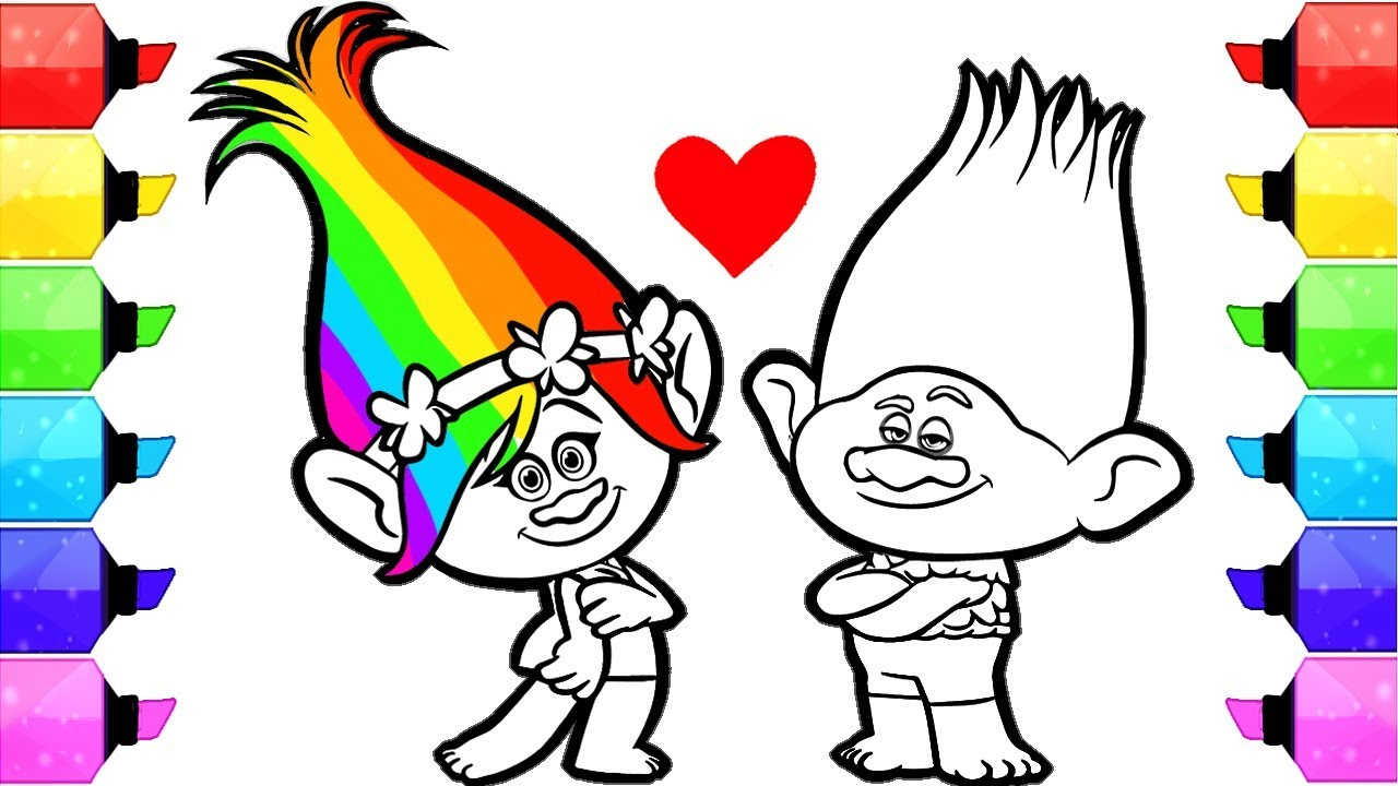 - Poppy Coloring Page Trolls Poppy Coloring Pages How To Draw And