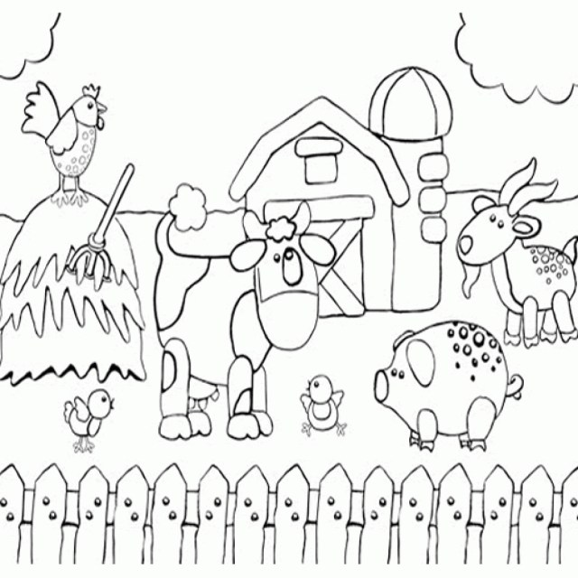 Preschool Coloring Pages Farm Coloring Page Printable Preschool Coloring Page Of Happy Farm