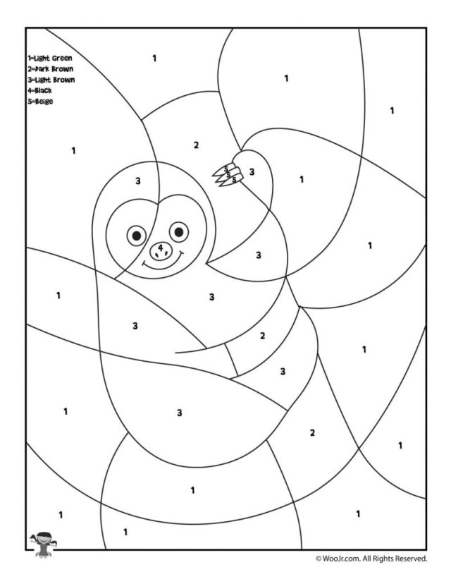 Preschool Coloring Pages Promising Animal Color Number Preschool Coloring Pages Woo Jr Kids