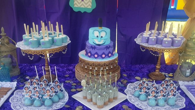 Princess Jasmine Birthday Cake Disneys Princess Jasmine Birthday Dessert Table Youtube