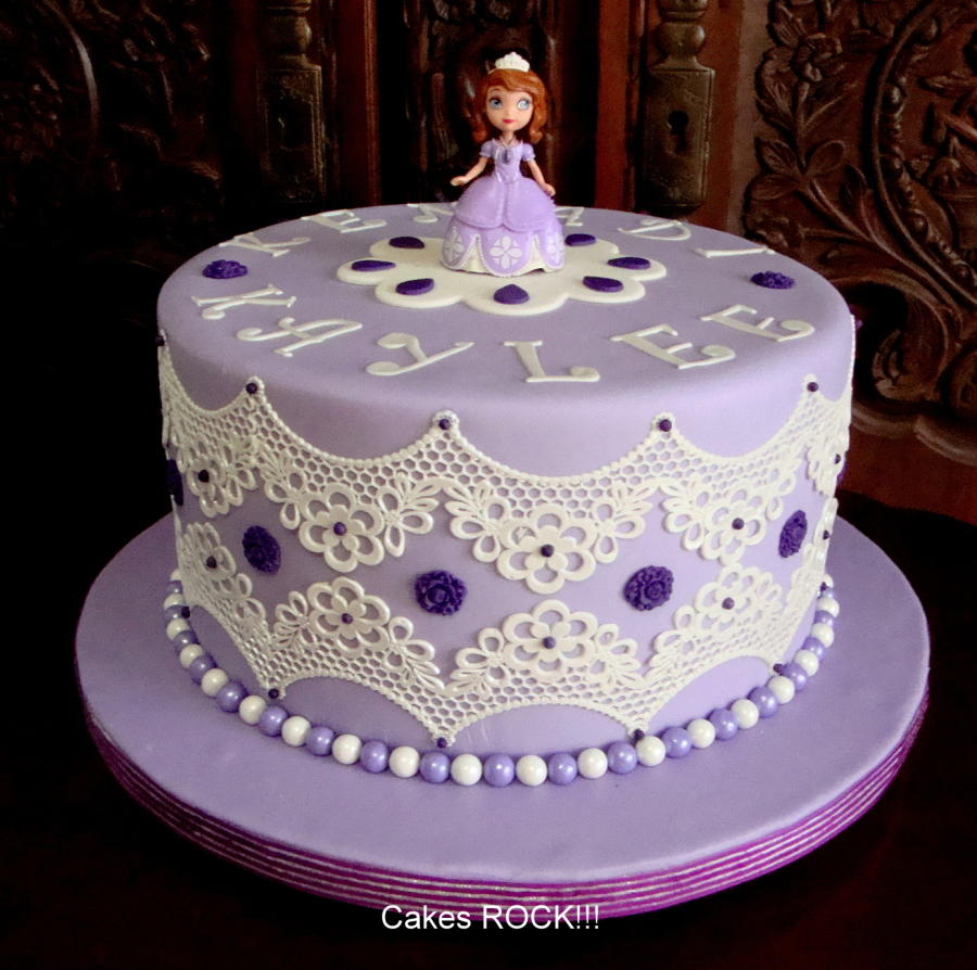 Awe Inspiring Princess Sofia Birthday Cake Sofia The First Birthday Cake 97 Funny Birthday Cards Online Overcheapnameinfo