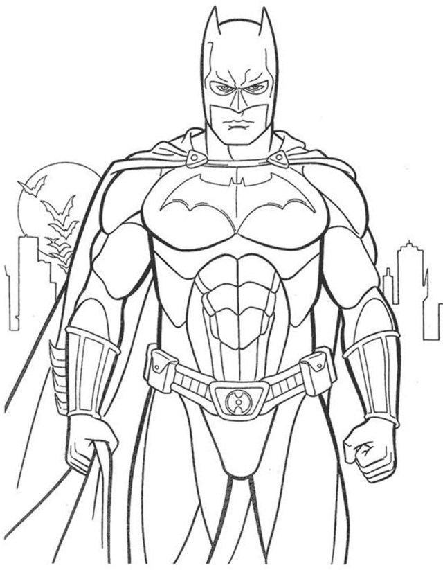 Free Printable Superhero Colouring Pages - Messy Little Monster | 823x640
