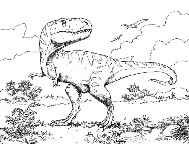 Printable Dinosaur Coloring Pages Coloring Page Dinosaurng Page Animal Dinosaurs Pages Sleekads Com