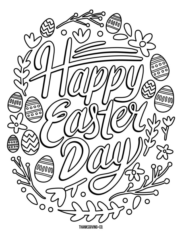 Printable Easter Coloring Pages 5 Free Printable Easter Coloring Pages For Adults That Will Relieve