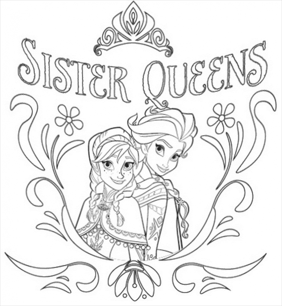 Printable Frozen Coloring Pages 14 Free Frozen Coloring