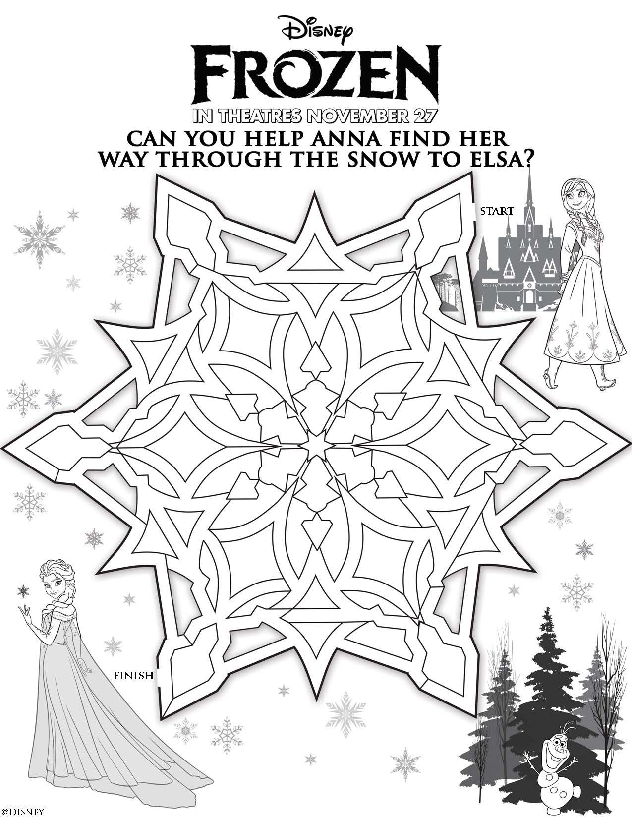- Printable Frozen Coloring Pages Free Printable Frozen Coloring