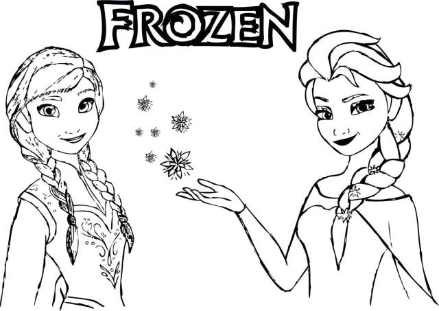 Printable Frozen Coloring Pages Frozen Princess Coloring Pages Printable And Anna Elsa Free Colo