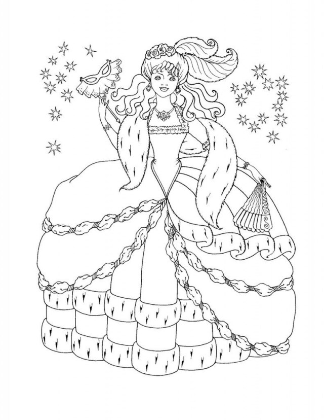 Printable Princess Coloring Pages Coloringages Disneyrincessrintable Book Image Formidable Free And