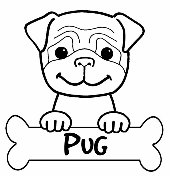 Pug Coloring Pages Free Pug Coloring Page To Download And Print Within Ba Boom
