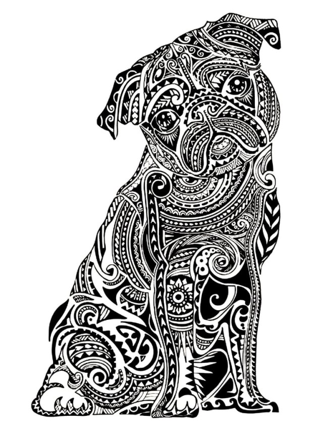 Pug Coloring Pages Get The Coloring Page Pug Free Coloring Pages For Adults
