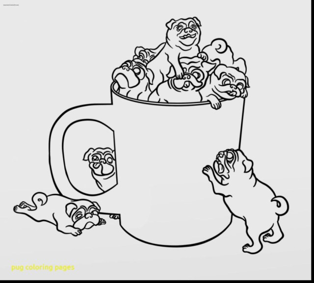 Pug Coloring Pages Sad Pug Coloring Page And Pages Coloring Pages