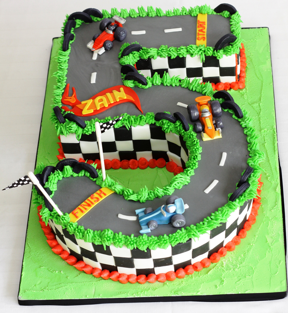 Groovy Race Car Birthday Cake Hotwheels Styled Race Car 5Th Birthday Cake Funny Birthday Cards Online Alyptdamsfinfo