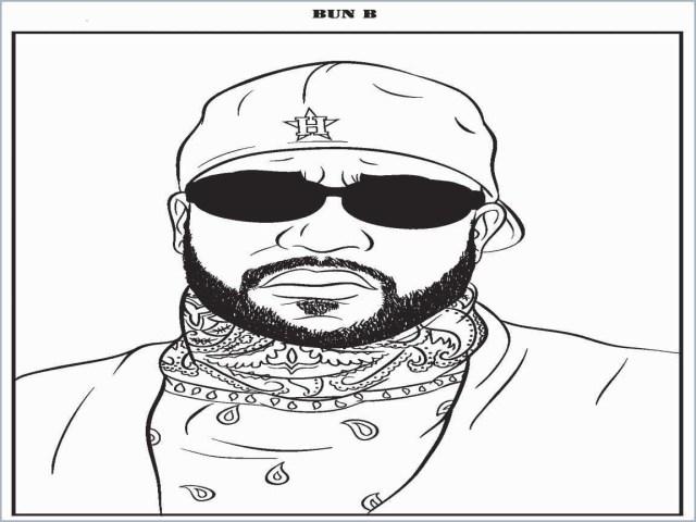 Rapper Coloring Pages Bun B Coloring Book Awesome Bun B Rap Coloring Book Coloring Pages
