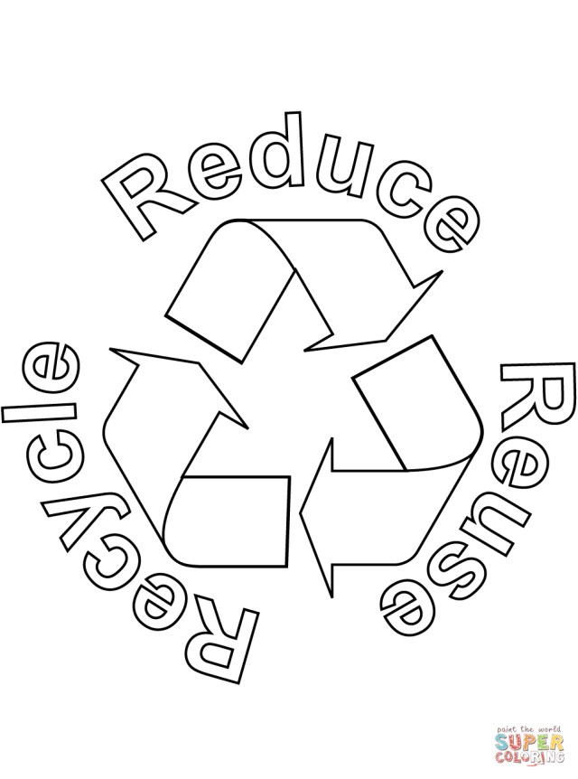 Recycling Coloring Pages Reduce Reuse Recycle Coloring Page Free Printable Coloring Pages