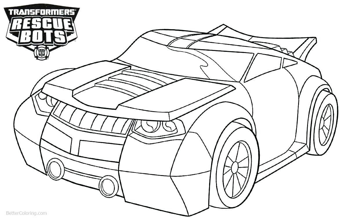 Rescue Bot Coloring Pages Transformer Rescue Bots Coloring Pages
