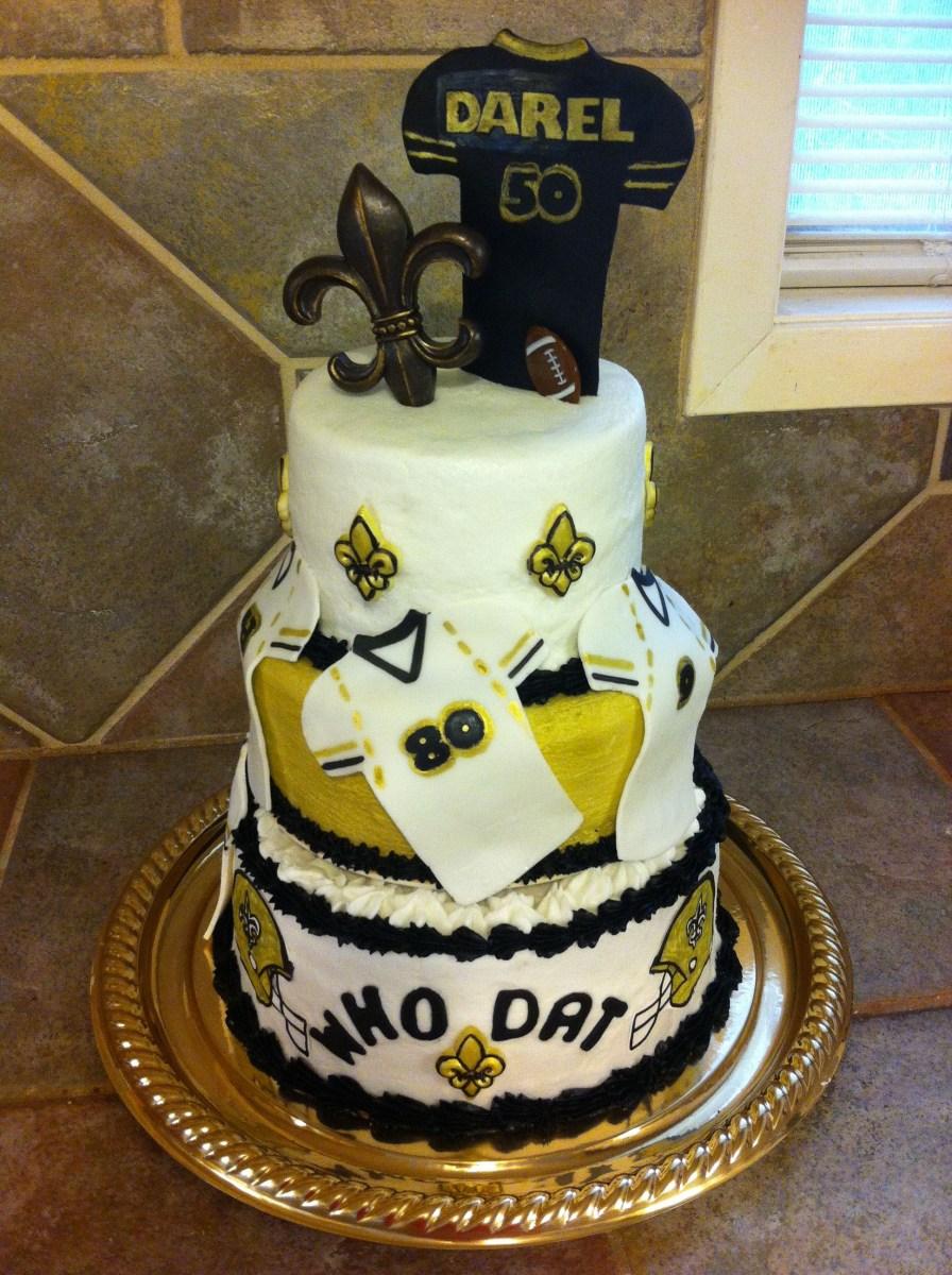 Pleasing Saints Birthday Cake New Orleans Saints 50Th Birthday Cake Cakes Funny Birthday Cards Online Elaedamsfinfo