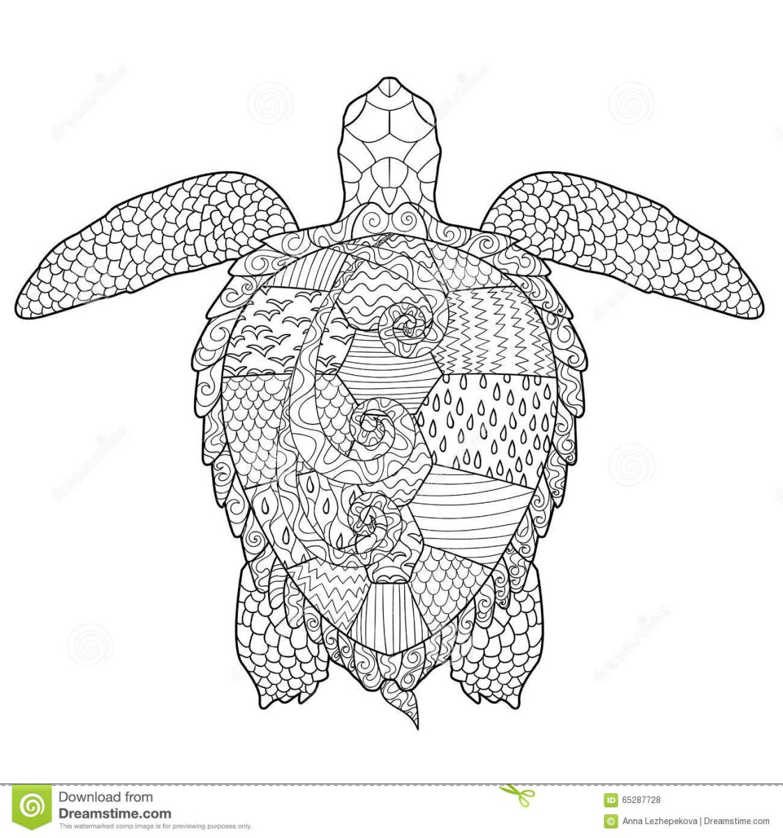 Sea Turtle Coloring Page Sea Turtle Adult Coloring Pages