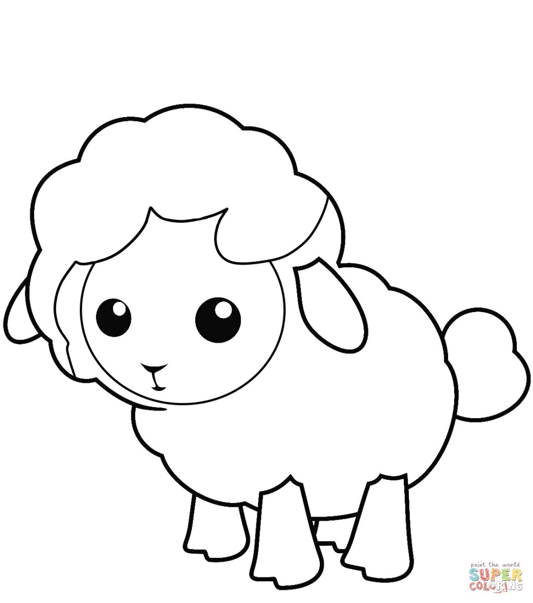Sheep Coloring Page Cute Little Lamb Coloring Page Pages Thanhhoacar