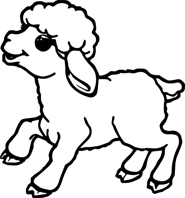 Sheep Coloring Page Cute Small Sheep Coloring Page Wecoloringpage