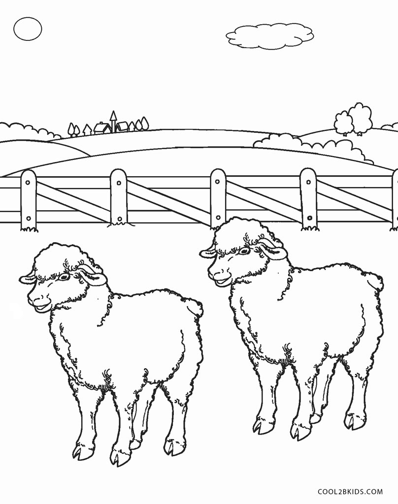 Sheep Coloring Page Free Printable Sheep Face Coloring Pages