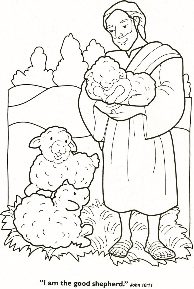 Sheep Coloring Page Jesus The Good Shepherd Coloring Page New Gallery Jesus And The Lost