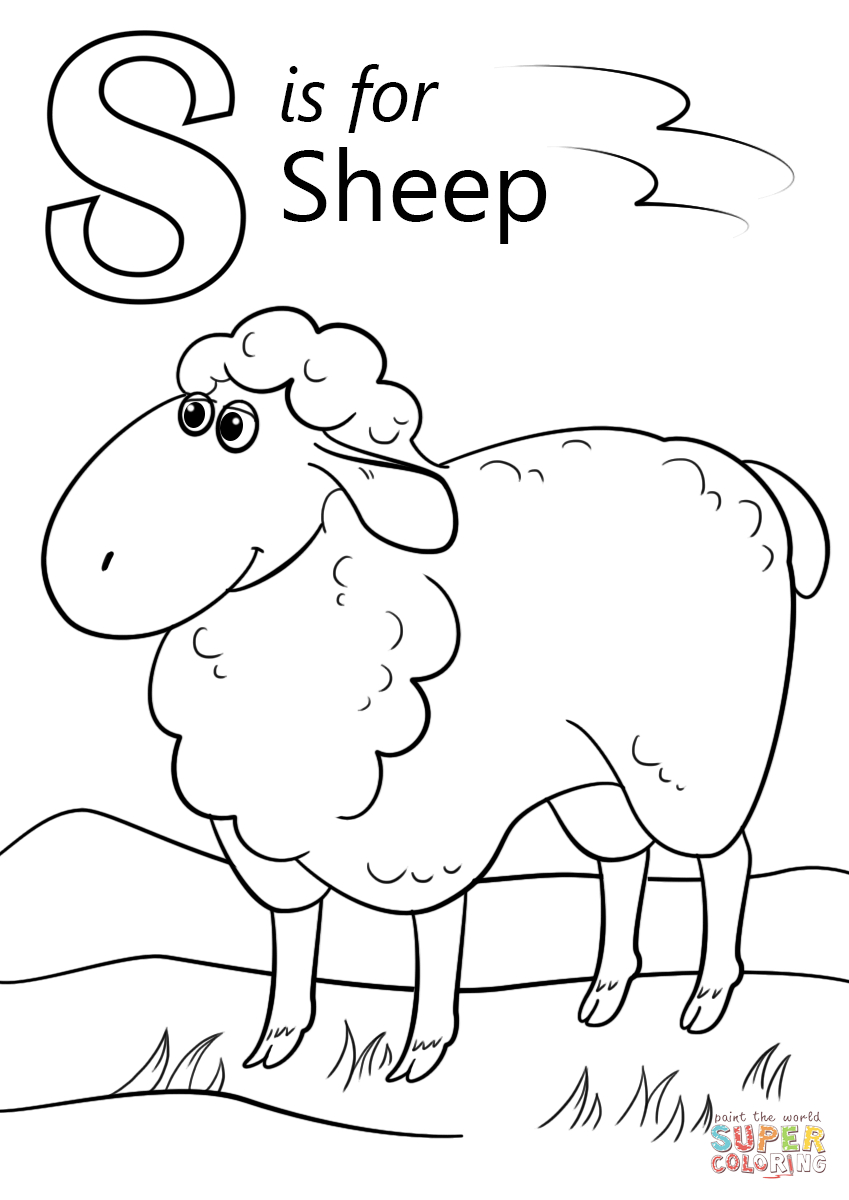 Free Coloring Page Sheep | Pusat Hobi