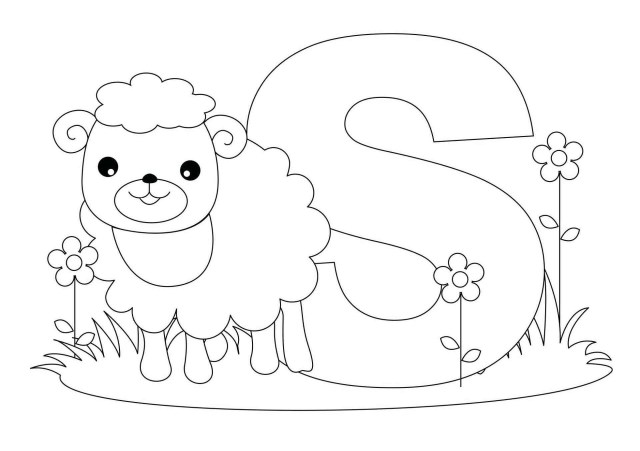 Sheep Coloring Page Letter S Is For Sheep Coloring Pages 1920 X 1353 9039 Kb